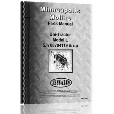 Image of Minneapolis Moline Uni-Tractor Tractor Parts Manual (SN# 08704119 Up)