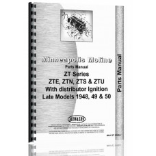 Minneapolis Moline ZTE Tractor Parts Manual (SN# R782L) (R782L)