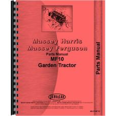 Massey Ferguson 10 Lawn & Garden Tractor Parts Manual