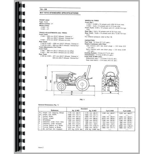Massey Ferguson 1020 Tractor Service ManualJensales