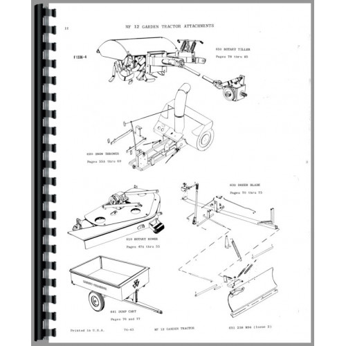 Massey Ferguson Lawn Tractor Parts : Massey ferguson lawn garden tractor parts manual