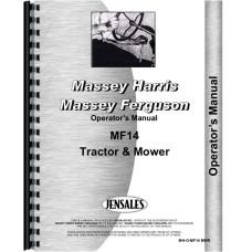 Massey Ferguson 14 Lawn & Garden Tractor Operators Manual