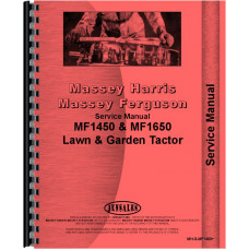 Massey Ferguson 1650 Lawn & Garden Tractor Service Manual