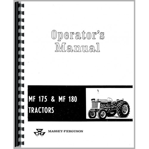 Massey Ferguson 175 Gas and Diesel Deluxe Tractor Manual Kit ...