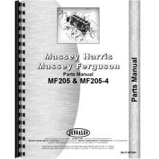 Massey Ferguson 205-4 Tractor Parts Manual