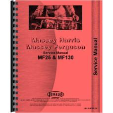 Massey Ferguson Tractor Service Manual (MH-S-MF25,130)