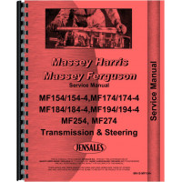Massey Ferguson 274 Tractor Transmission and Steering Only Service Manual