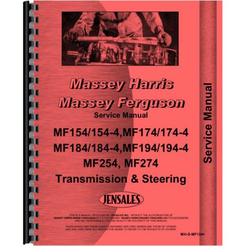 massey ferguson 274 tractor transmission and steering only service rh jensales com massey ferguson 275 manual pdf massey ferguson 274 manual