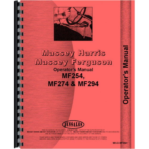 massey ferguson 254 tractor operators manual rh jensales com Massey Ferguson 1533 Manual Massey Ferguson 1533 Manual