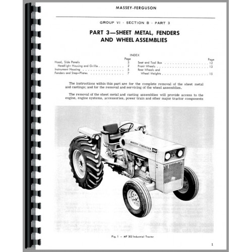 Massey Ferguson 302 Industrial Tractor Service ManualJensales