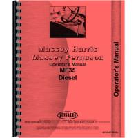 Massey Ferguson 35 Tractor Operators Manual (Diesel Only)