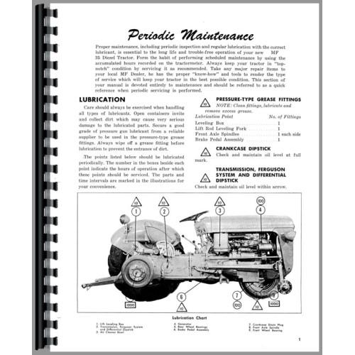 massey ferguson 35 tractor operators manual diesel only rh jensales com massey ferguson 35 perkins diesel manual Massey Ferguson 35 Tractor