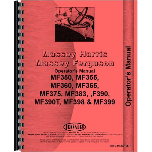 MASSEY FERGUSON 340 350 355 360 362 365 375 383 TRACTORS OWNERS OPERATORS MANUAL