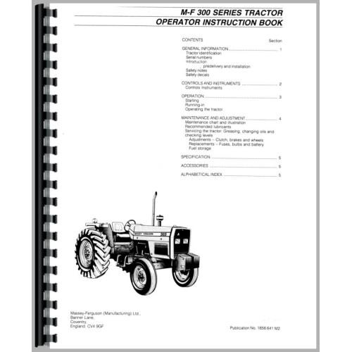 Massey ferguson 383 tractor operators manual fandeluxe Choice Image