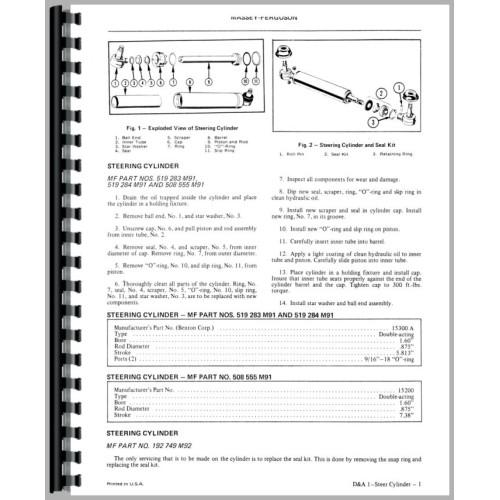 Massey Ferguson 40 Industrial Tractor Service Manual