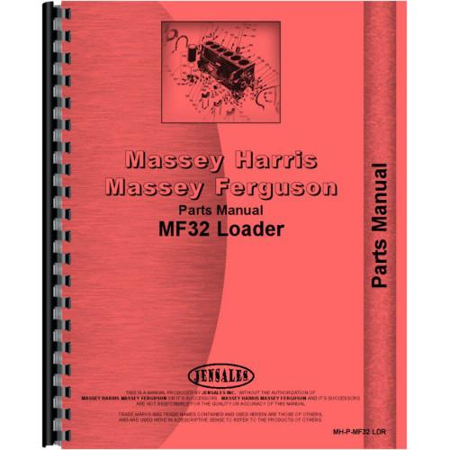 Massey Ferguson 40 Loader Attachment Parts Manual