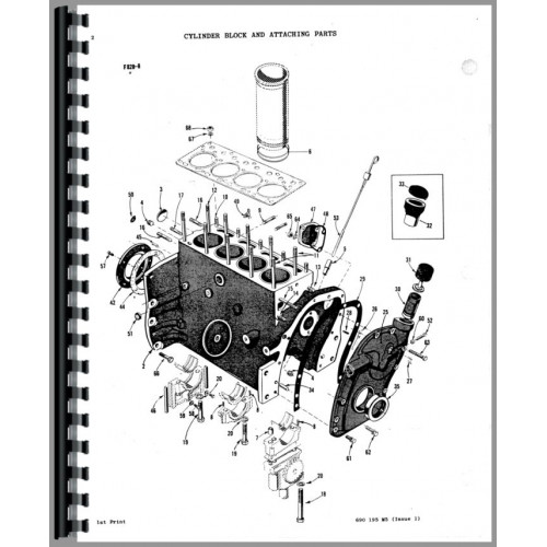 Massey Ferguson 50 Tractor Parts Manual