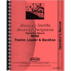 Massey Ferguson 60 Tractor Loader Backhoe Operators Manual