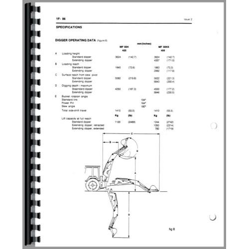 Mf 60 backhoe Manual