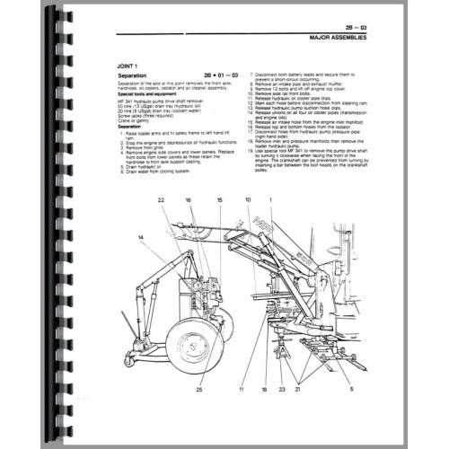 Massey Ferguson 50HX Tractor Loader Backhoe Service Manual