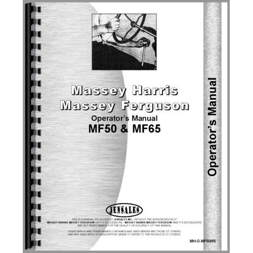 Massey Ferguson 50A Tractor Loader Backhoe Deluxe Tractor Manual ...