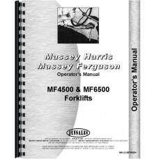 Massey Ferguson 6500 Forklift Operators Manual (Gas and Diesel)