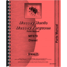 Massey Ferguson 670 Tractor Parts Manual