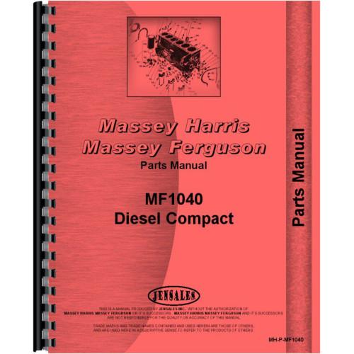 Massey Ferguson 1040 Tractor Parts Manual
