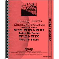 Massey Ferguson 120 Baler Operators Manual