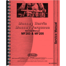 Massey Ferguson Industrial Tractor Service Manual (MH-S-MF203,205)