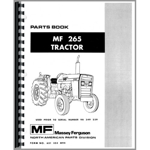 massey ferguson 265 tractor parts manual sn 0 9a349238 rh jensales com massie ferguson 265 manual massey ferguson 165 manual pdf
