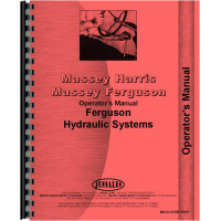 Massey Ferguson 65 Hydraulic System Operators Manual