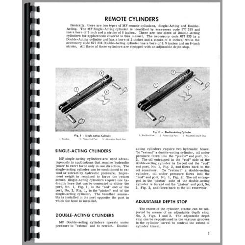 massey ferguson 135 hydraulic system operators manual rh jensales com Massey Ferguson 271XE Massey Ferguson 271XE
