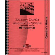 Massey Ferguson 20-85 Tractor Operators Manual