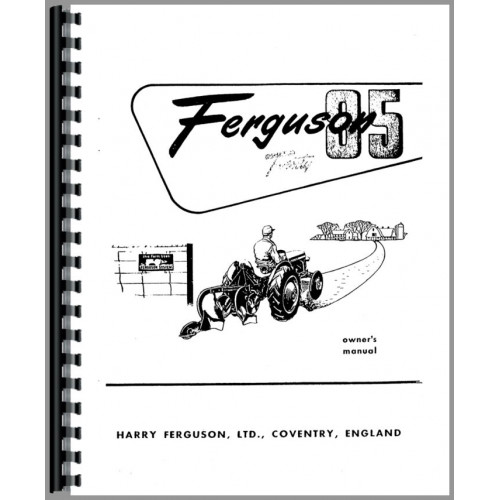 ferguson tea20 tractor operators manual sn 172501 and up 172501 rh jensales com User Manual User Manual PDF