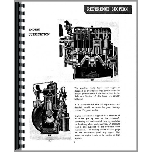 Ferguson TEA20 Tractor Operators Manual (SN# 0-172500) (0 to 172500)