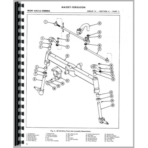 Massey Ferguson 35 Tractor Service Manual (1960-1965) (US Built)