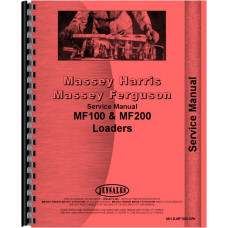 Massey Ferguson 40 Loader Attachment 100 Service Manual (English or Import Version)