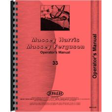 Massey Harris 33 Tractor Operators Manual (Row Crop & Standard)