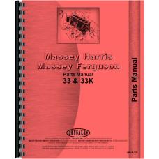 Massey Harris 33 Tractor Parts Manual (Row Crop & Standard)