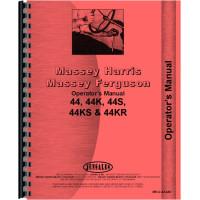 Massey Harris 44 Tractor Operators Manual