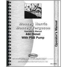 Massey Harris 444 Tractor Operators Manual (w/ PSB Pump)
