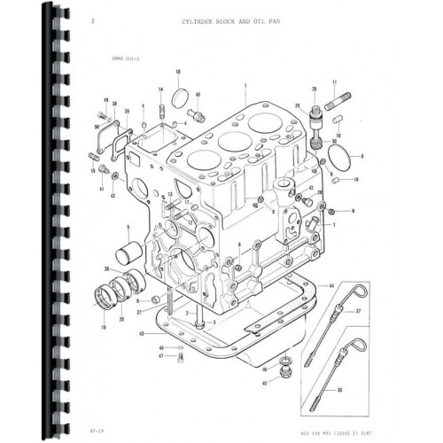 massey ferguson 1020 tractor parts manual