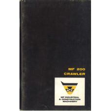 Massey Ferguson 200 Crawler Operator's Manual