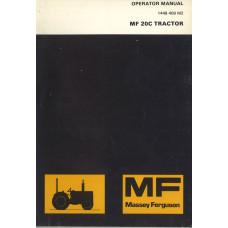 Massey Ferguson 20C Industrial Tractor Operator's Manual
