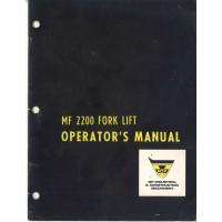 Massey Ferguson 2200 Forklift Operator's Manual
