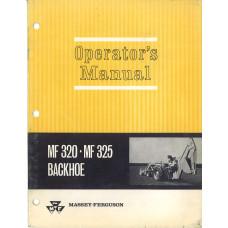 Massey Ferguson 325 Backhoe Attachment Operator's Manual (Attachment)