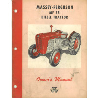 Massey Ferguson 35 Tractor Operator's Manual (Diesel)