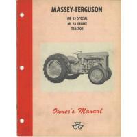 Massey Ferguson 35 Special Tractor Operator's Manual