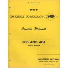Massey Ferguson 303 Industrial Tractor Operator's Manual (Work Bull)